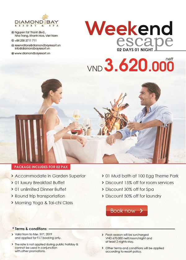 WEEKEND ESCAPE WITH ONLY @ VND 3,620,000 NETT